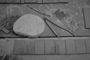 carreau artisanal en fabrication