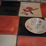 Handmade tiles for worksurface