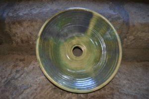 vasque-fait-main-vert-cuivre
